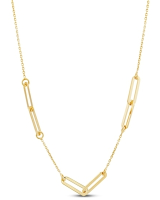 """Jared The Galleria Of Jewelry Italia D'Oro Oval Link Necklace 14K Yellow Gold 24"""""""