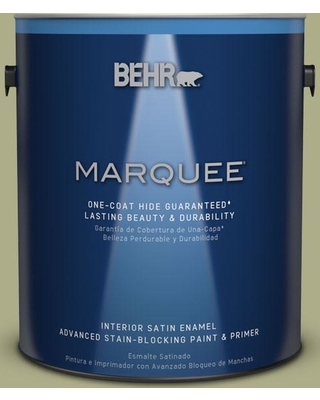BEHR MARQUEE 1 gal. #PPU9-21 Sanctuary One-Coat Hide Satin Enamel Interior Paint and Primer in One