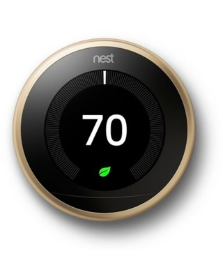 Google Nest Learning Third Generation Thermostat in Brass