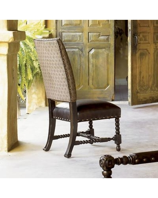 Tommy Bahama Home Kingstown Edwards Genuine Leather Upholstered Dining  Chair (Set Of 2) 01