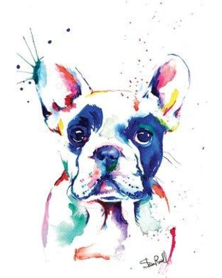 """East Urban Home 'Frenchie I' Graphic Art Print on Canvas ETUB1191 Size: 26"""" H x 18"""" W x 1.5"""" D"""