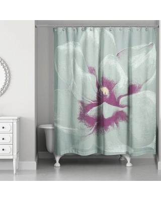 House of Hampton Bulter Graphic Floral II Single Shower Curtain W000150934