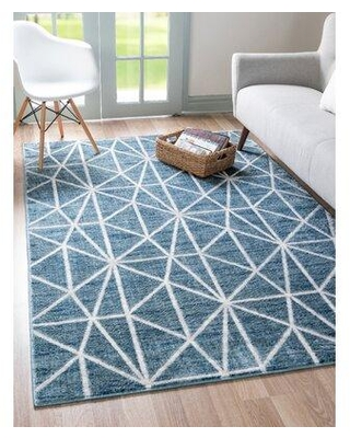 Savings On Mercury Row Bahe Geometric Blue Gray Area Rug Polyester In Blue Gray Silver Size Rectangle 5 X 8 Wayfair F001c614176e4b9d986c269c9bd1d2bf