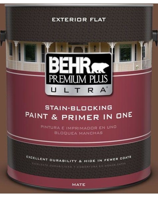 BEHR ULTRA 1 gal. Home Decorators Collection #HDC-FL15-04 Cinnamon Crumble Flat Exterior Paint & Primer