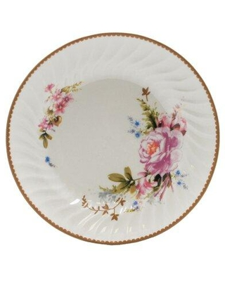 "August Grove® Rabia Rose 7.5"" Appetizer Plate, Ceramic/Porcelain China in White/Cream, Size 6"" to 8"" Medium 
