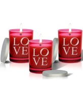 Carved Solutions Gem Love Unscented Jar Candle gcrub-pd-love-x3