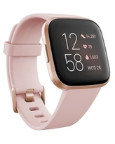 Fitbit Versa 2 Health & Fitness Smartwatch with Heart Rate, Music, Alexa Built-In, Sleep and Swim Tracking, Petal/Copper Rose (S and L Bands Included)