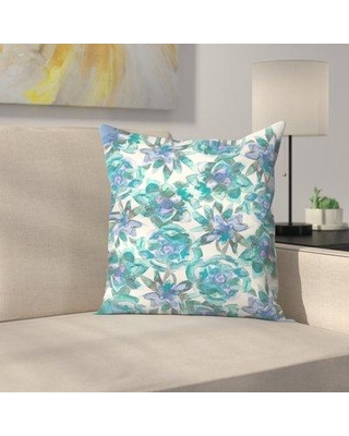 """East Urban Home Jetty Printables Watercolor Succulent Pattern Throw Pillow EUHG3812 Size: 20"""" x 20"""""""