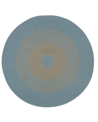 New Savings On Divine Hand Braided Blue Ivory Area Rug August Grove Rug Size Round 6