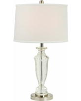 Trava Chrome and Crystal Table Lamp