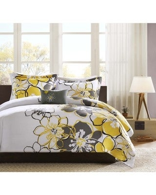 Mi Zone Mackenzie 4-piece Duvet Cover Set (Full - Queen)
