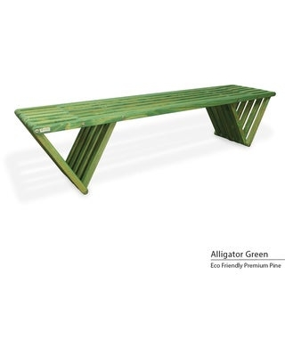 Backless Wood Bench 6' Made in America (Alg Green)