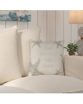 """Highland Dunes Clarkson Dreaming of a Sandy Christmas Indoor/Outdoor Throw Pillow HLDS3446 Size: 18"""" H x 18"""" W x 4"""" D"""