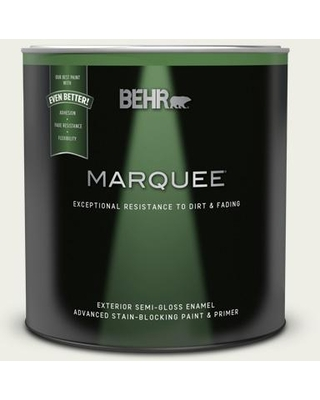 BEHR MARQUEE 1 qt. #PPU10-13 Snowy Pine Semi-Gloss Enamel Exterior Paint and Primer in One