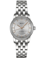 Mido Women's Baroncelli Ii Lady M76004101 Silver Stainless-Steel Swiss Automatic Dress Watch (Silver)