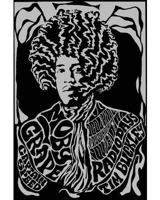 """East Urban Home 'Jimi Hendrix Experience 1967 First U.S. Tour at Earl Warren Showgrounds Tribute' Vintage Advertisement Print Poster on Canvas URHE2189 Size: 40"""" H x 26"""" W x 0.75"""" D"""