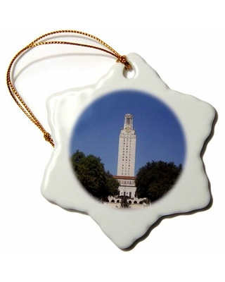 Tower Building House in Austin, Texas, Photo Snowflake Holiday Shaped Ornament