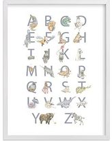 The Animalphabet Wall Art by Minted(R) 11x14, White
