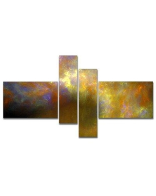 East Urban Home 'Blur Yellow Sky with Stars' Graphic Art Print Multi-Piece Image on Canvas EUHG8284