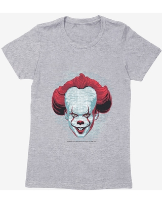 IT Chapter Two Pennywise Come Home Script Womens T-Shirt