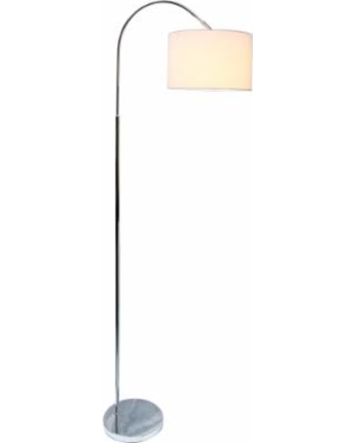 Saranap Brushed Nickel Arched Floor Lamp