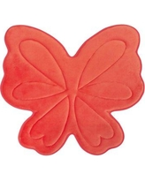 Bounce Comfort Butterfly Memory Foam Bath Mat YMA00615 Color: Coral