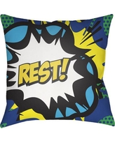 "Zoomie Kids Cassidy Rest Throw Pillow ZMIE2521 Size: 18"" H x 18"" W x 4"" D"