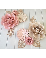Bubbapaint 3d Paper Flower Decorations For Wall Backdrop For Decor Giant Size Pre Assembled Flower Girld Nursery Wall Decor Wendding Bridal