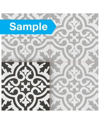 Deals For Merola Tile Take Home Sample Berkeley Black 9 In X Ceramic Floor And Wall