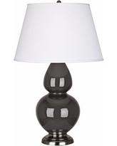 """Robert Abbey 31"""" Ash Ceramic and Silver Table Lamp"""