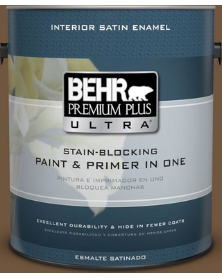 BEHR Premium Plus Ultra 1 gal. #PPU4-20 Ancient Root Satin Enamel Interior Paint and Primer in One