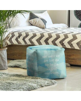 East Urban Home Cube Insert (18 x 18 x 18) Handwritten Find Yourself Quote Ottoman EBJX2492 Upholstery Color: Zircon