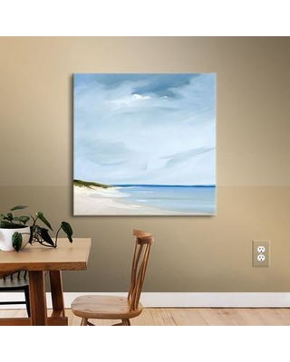 """Highland Dunes 'Blue' Painting Print on Wrapped Canvas HLDS5250 Size: 24"""" H x 24"""" W x 2"""" D"""