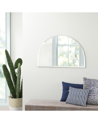 Sales On Dmitri Frameless Half Circle Beveled Accent Mirror Mistana
