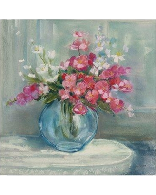 """Charlton Home 'Spring Bouquet I Crop' Acrylic Painting Print on Wrapped Canvas CHRH8013 Size: 18"""" H x 18"""" W x 2"""" D"""