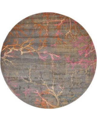 World Menagerie Essex Gray Area Rug WRMG3658 Rug Size: Round 8'