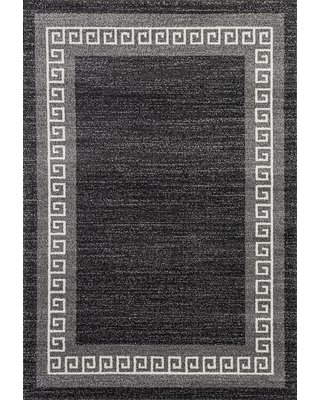 """Gries Anthracite/Gray Area Rug Alcott Hill Rug Size: Rectangle 5'2"""" x 7'2"""""""