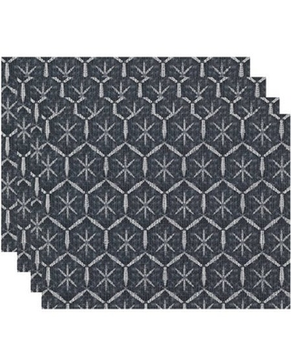 Simply Daisy Tufted Geometric Print Placemat, Set of 4
