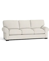 Turner Roll Arm Upholstered Sleeper Sofa, Polyester Wrapped Cushions, Denim Warm White