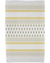 East Urban Home Comb Beach Towel ESTW5587 Color: Yellow/Gray