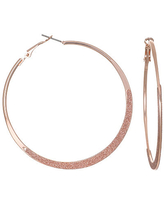 Bijoux Bar Round Hoop Earrings, One Size , Pink