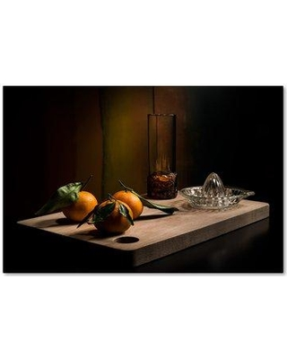 """Trademark Fine Art 'Tangerines' Photographic Print on Wrapped Canvas 1X00849-C Size: 22"""" H x 32"""" W"""