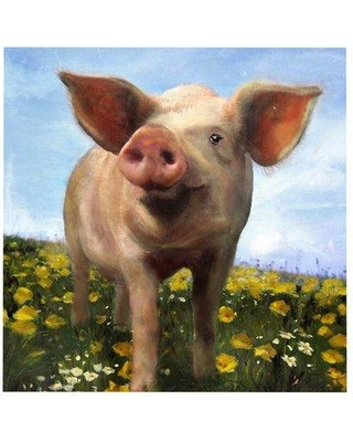 Crestview Pig Out Painting Print on Canvas CVTOP1920