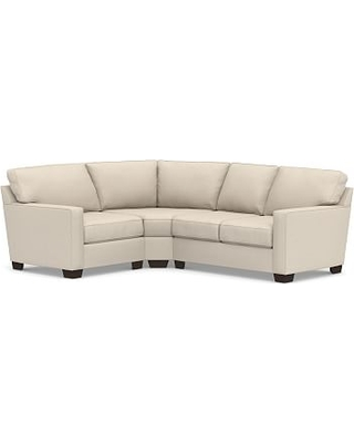 Buchanan Square Arm Upholstered Right Arm 3-Piece Wedge Sectional, Polyester Wrapped Cushions, Performance Chateau Basketweave Oatmeal
