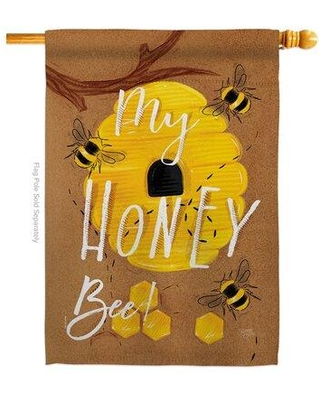 The Best Sales For Breeze Decor My Honey Bee Impressions Decorative 2 Sided Polyester 40 X 28 In House Flag In Brown Size Medium 13 30 Wide Wayfair