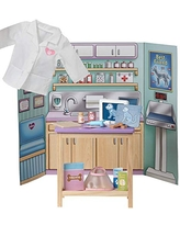 Adora Amazing World Veterinary Clinic Wooden Play Set – 17 Piece Accessory Pretend Play Set for 18 Dolls (Amazon Exclusive), Multicolor (29131)