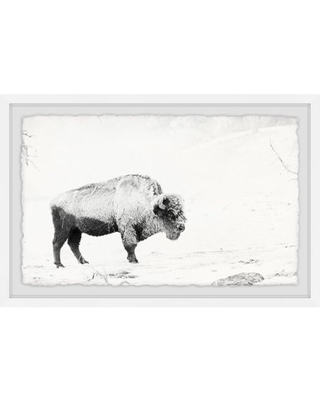 Marmont Hill Grazing Bison Framed Wall Art
