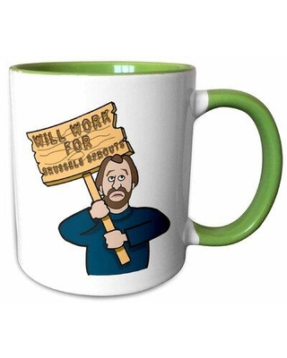 Latitude Run Bechet Funny Humorous with a Sign Will Work Coffee Mug X111462670 Theme: Brussels Sprouts Man Capacity: 11 oz.