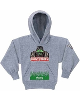 Personalized Monster Jam Grave Digger Boys' Grey Hoodie