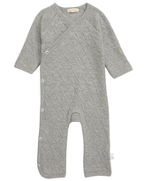 Infant Burt's Bees Baby Quilted Organic Cotton Romper, Size 6-9M - Grey